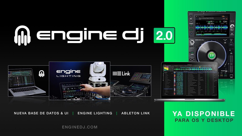 Software Engine DJ 2.0 de Denon DJ con control de iluminación integrado